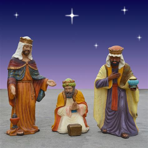 old world nativity three kings 37in tall