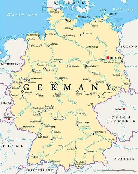 map  germany guide   world