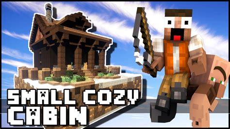 minecraft small cozy cabin youtube