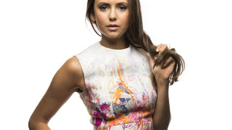 beautiful canadian actress nina dobrev full hd  wallpaper