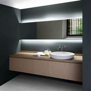 pourquoi choisir un miroir retroeclaire keria luminaires With carrelage adhesif salle de bain avec lampe led moderne