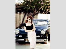 Renee Olstead Is GangstaHot Next to a Chevy Deluxe