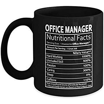 amazoncom office manager nutritional facts mug office