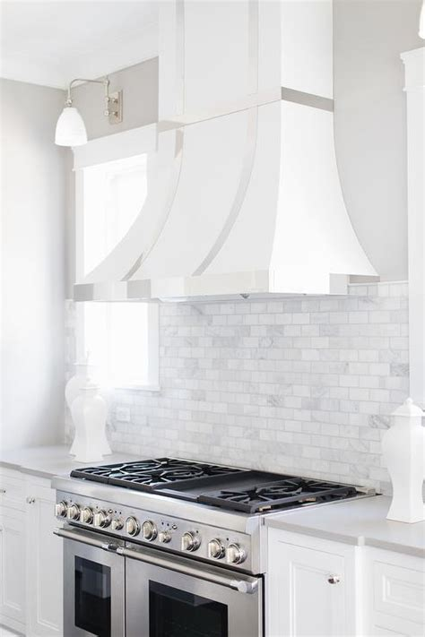 white  gray marble criss cross tiles cottage kitchen