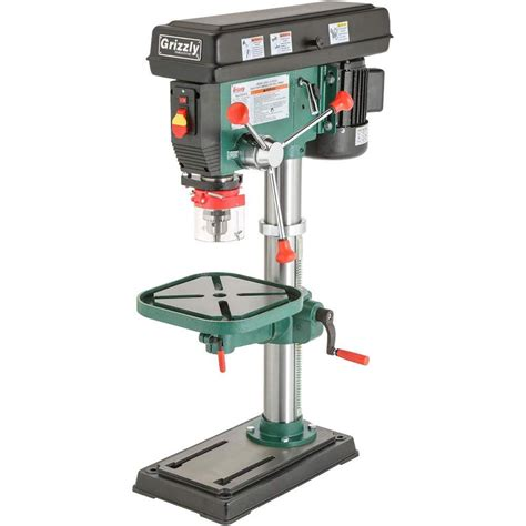 grizzly industrial   heavy duty benchtop drill