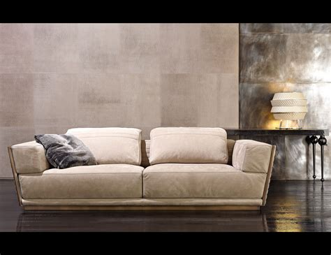 Sofas And Chairs by Nella Vetrina Rugiano Empire 6081 In Beige Suede Leather