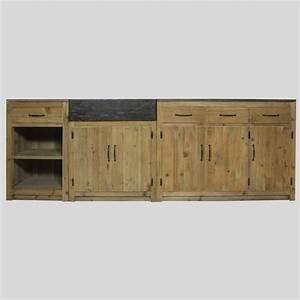 Meuble Cuisine Bois Naturel : meuble cuisine bois massif bas et haut made in meubles ~ Teatrodelosmanantiales.com Idées de Décoration