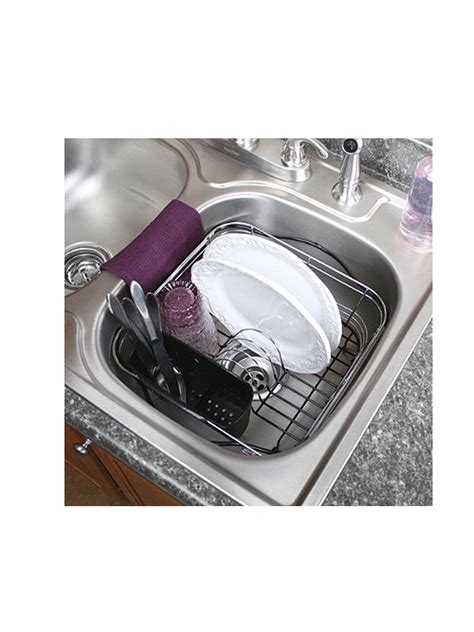 small sink dish rack dish drying rack in sink on counter or expandable over