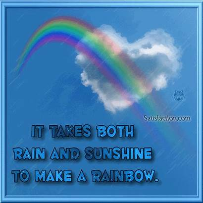 Quotes Sayings Rainbow Rain Rainbows Takes Positive