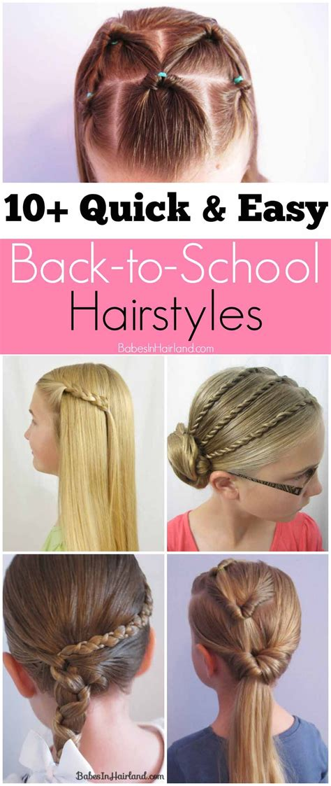 And Easy Hairstyles For Hair For School by 10 And Easy Back To School Hairstyles In
