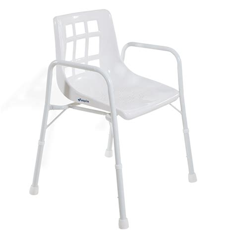aspire wide shower chair  arms life mobility