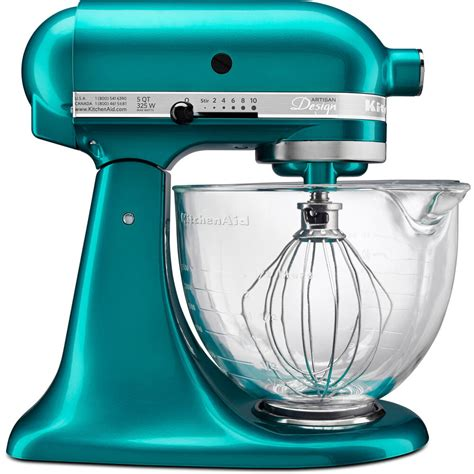 Electric Blue Kitchenaid Mixer by Kitchenaid 5 Qt Glass Bowl Designer Series Stand Mixer Sea
