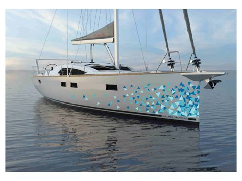 Catamaran Hull Graphics by Elegant Modern Graphic Design For Allures Yachting By