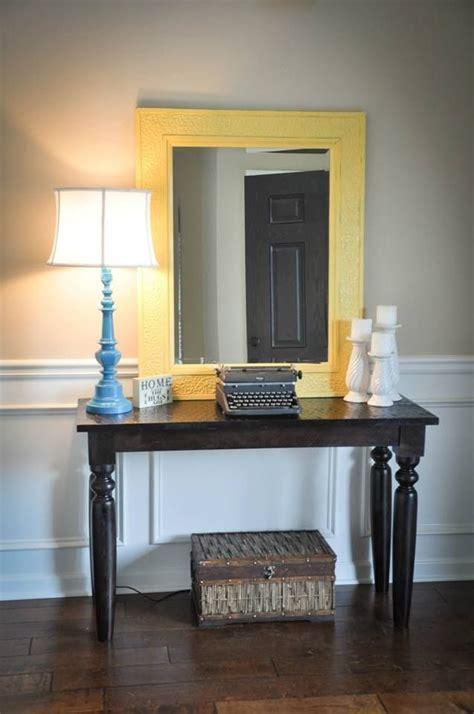 entry  table diy lamp diy candle sticks diy yellow
