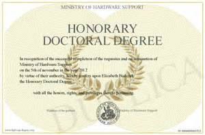 Honorary Doctorate Degree Certificates