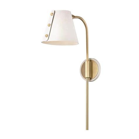 mitzi by hudson valley lighting meta 1 light aged brass
