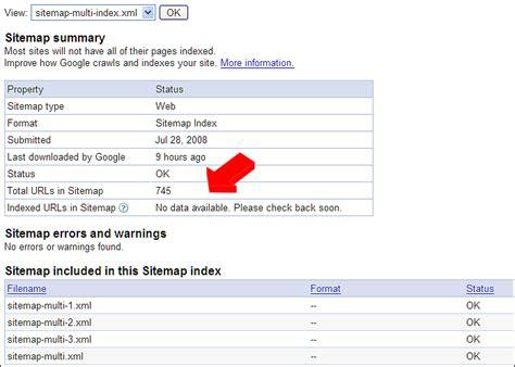 Xml Sitemap Indexed Urls Google Webmaster Tools