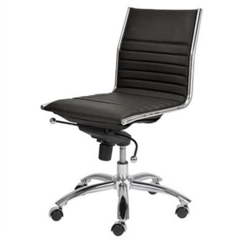 modway ripple mid back white armless office chair