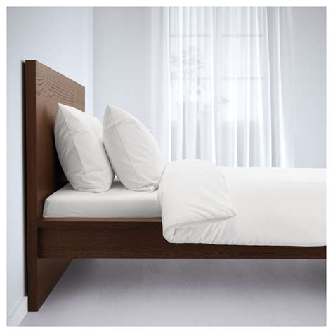 malm bed frame high brown stained ash veneer lur 246 y