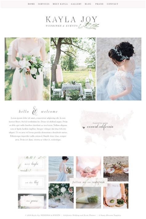 Wedding Website Templates Website Design Wix Template Logo Design Editable