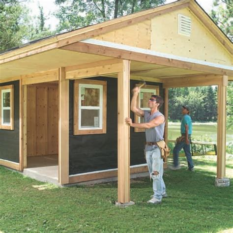 easy to build shed deluxe rustic yard shed plans