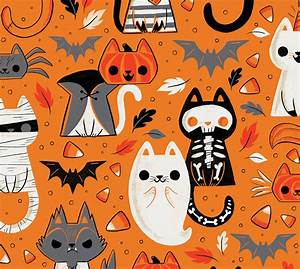 Cats of Halloween (Work in Progress Pattern) on Behance