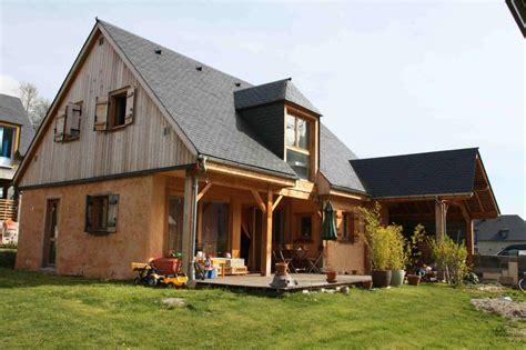 maison paille ossature bois maison en paille