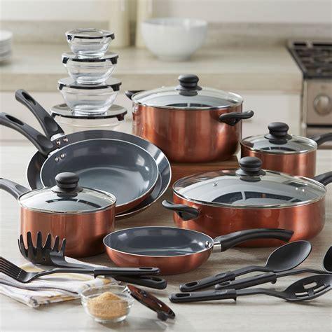 pc aluminum cookware set brylane home