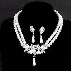 Affordable Ivory Pearl Bridal Jewelry Sets For Wedding