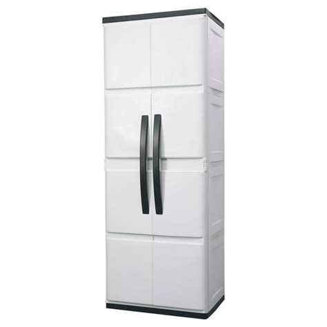 plastic storage cabinet hdx 26 in plastic cabinet discontinued 194983 the home