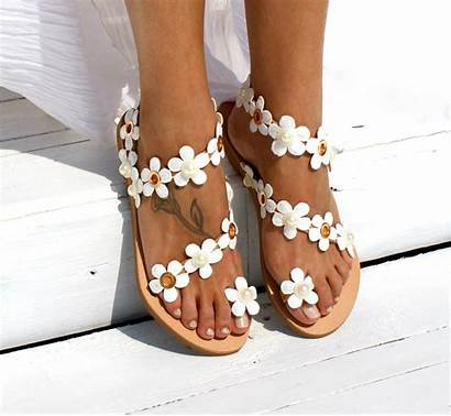 Sandals Flower Gladiator Flat Ladies Strap Rear