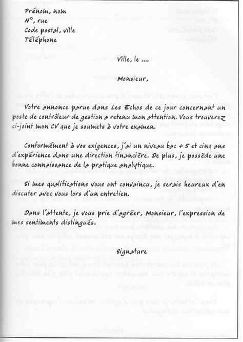 Cv Lettre by Exemple Lettre De Motivation Gratuite