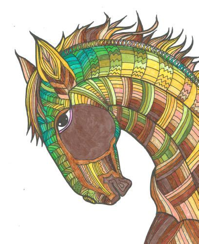 ausmalbuecher fuer erwachsene  fantastische pferde