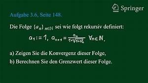 Grenzwert Einer Reihe Berechnen : grenzwert einer folge berechnen youtube ~ Themetempest.com Abrechnung