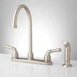 Kitchen Faucet Spray Sanibel Lever Handle Gooseneck Kitchen Faucet With Spray Kitchen