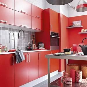 Cuisine Delinia Catalogue : meuble de cuisine delinia composition type delice rouge rouge n 3 cuisine magasin leroy ~ Farleysfitness.com Idées de Décoration