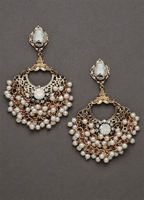 pearl chandelier earrings wedding s pearl rhinestone dangle chandelier