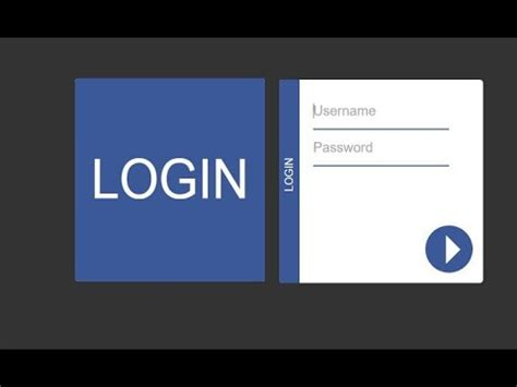 animated login form design using html 5 css 3 jquery