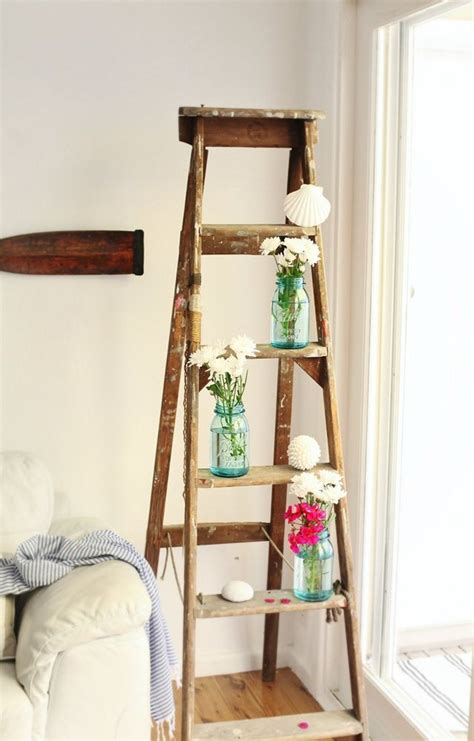 decorative ladder ideas 36 d 233 cor ideas with ladders vintage charm with space saving functions digsdigs
