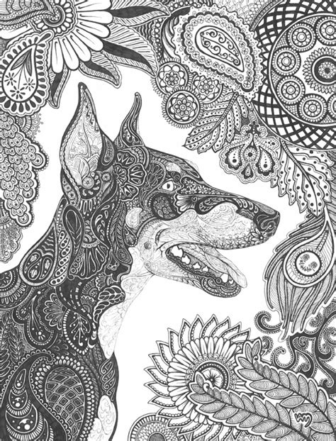 Paisley Doberman Pinscher by Celerie.deviantart.com on @deviantART | Doberman pinscher, Dog