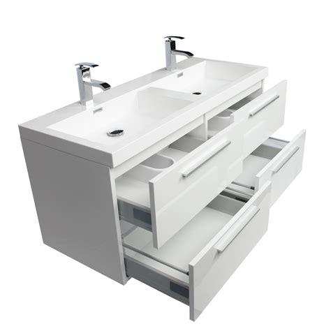 Buy Bathroom Vanity by Buy 47 Inch Wall Mounted Modern Bathroom Vanity