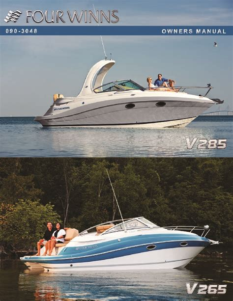 Four Winns Boat Owners Manual by 2011 Four Winns V265 V285 Boat Owners Manual