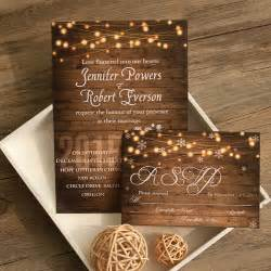 cheap wedding invitation kits rustic wedding invitations with free response cards part 5