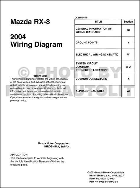 2004 rx 8 wiring diagram workshop manual 2004 mazda rx 8 wiring diagram manual original rx8