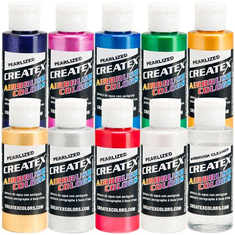 createx 10 color pearlized set airbrush paint colors ebay
