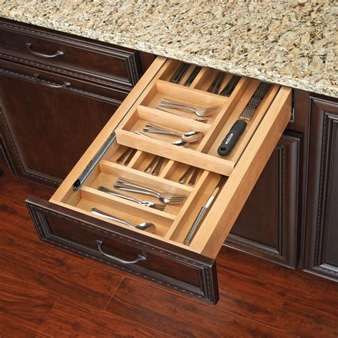 Tiered Shelves For Cabinets by Rev A Shelf Tiered Cutlery Drawer For 18 Quot Cabinet