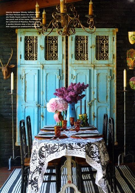 Rustic Chic Dining Room Ideas by Gypsies Rustic Chic Turquoise Decorating
