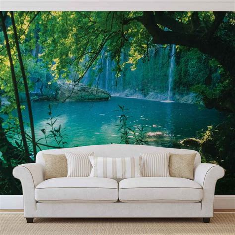 Wall Murals by Wall Mural Photo Wallpaper Tropical Waterfall Lagoon