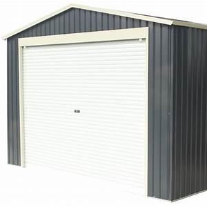 garage metal anthracite 1952m2 porte enroulable kit d With porte de garage enroulable de plus portes entrée bois