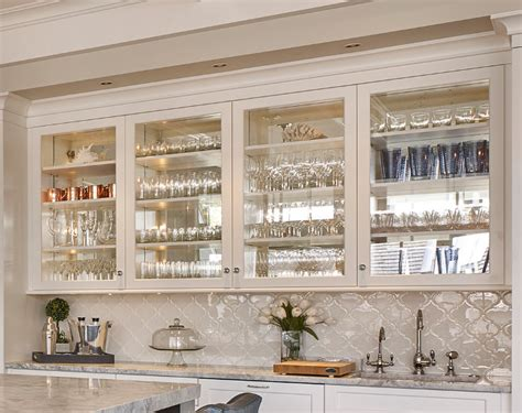 mirrored glass kitchen cabinets seaside shingle coastal home home bunch interior design
